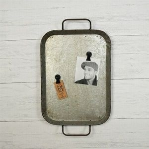 Rustic Tin Tray Wall Display with Magnets